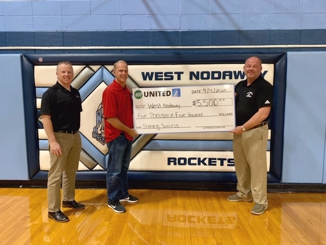 Thank you to United Electric for their generous contribution to the West Nodaway School District.
