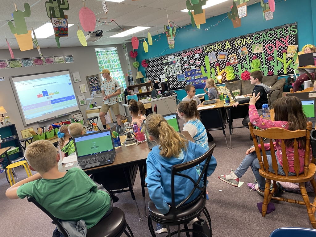 Review for social studies test! These kids love kahoot!