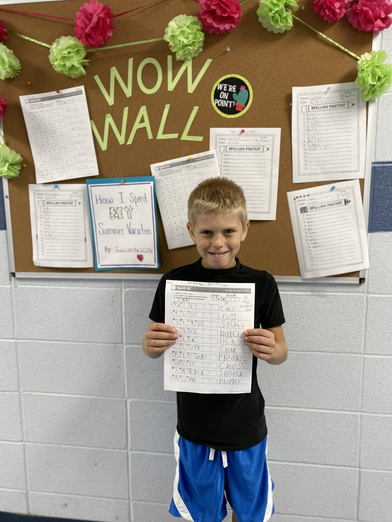 20/20 on his spelling test!
