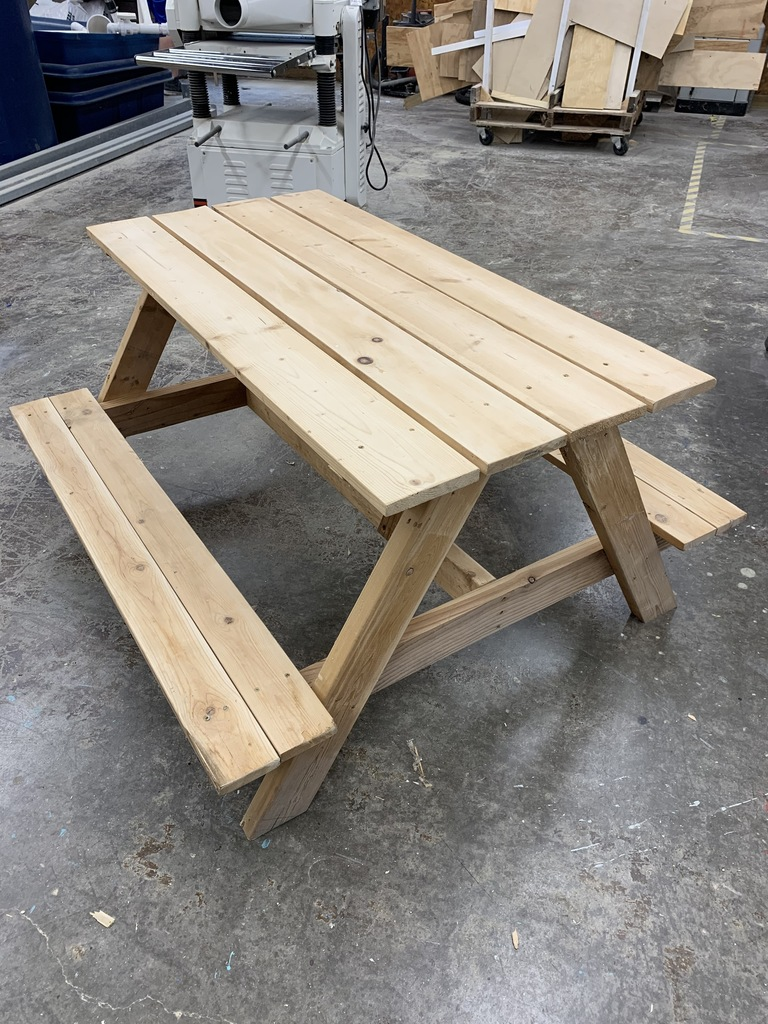 4' Childrens Picnic Table built by the Ag Power & Technology class for sale for $50! Contact Mrs. Honan or Tayne in the high school office.