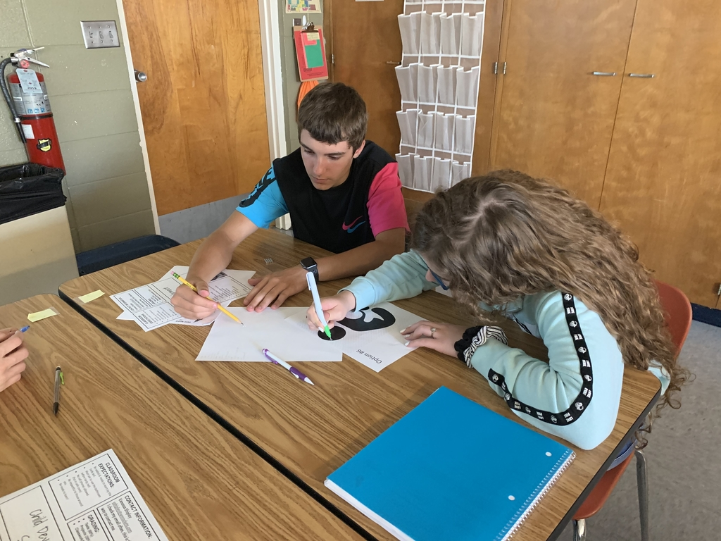 Katana Steffey & Hunter Dawson working together on their wordle!