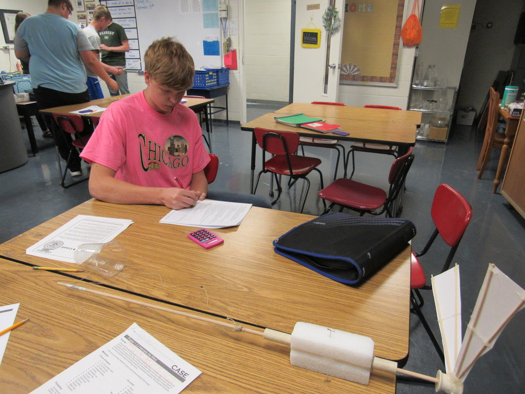 Ag Power & Tech students tested their wind turbines to determine the amount of work they could produce.