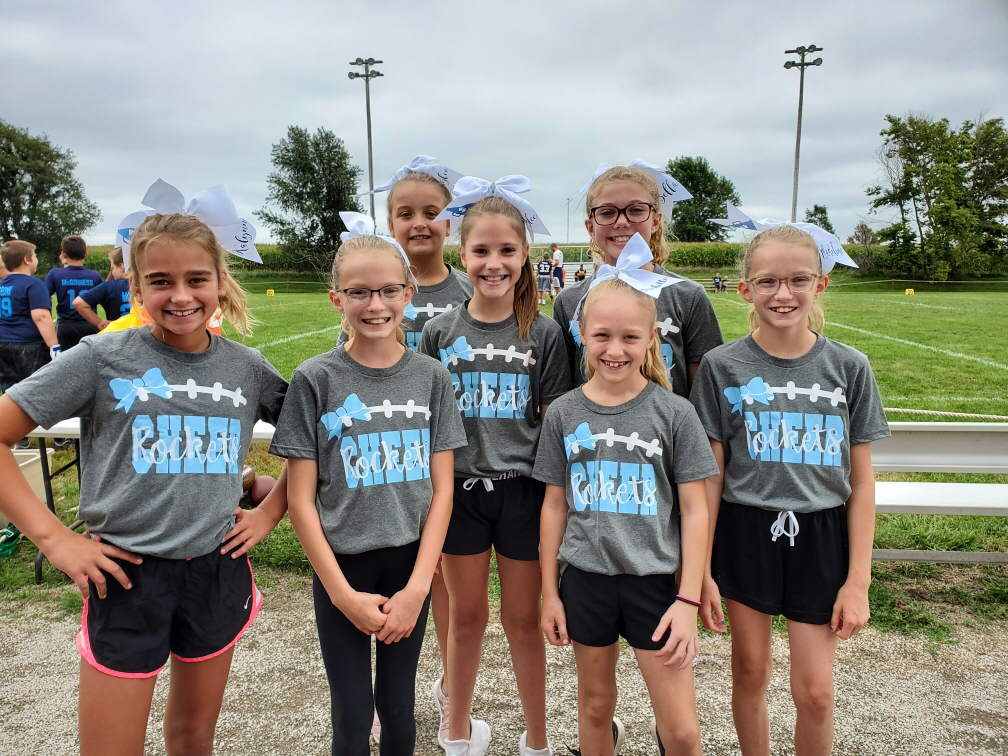 3rd-6th grade Flag Football cheerleaders