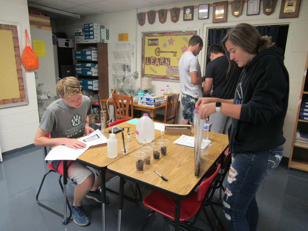 Plant Science students tested the pH of several soil samples. They then determined the nutrients available for plants and the effects on plants.