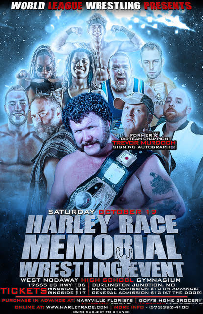 Harley Race Memorial Wrestling Event Poster