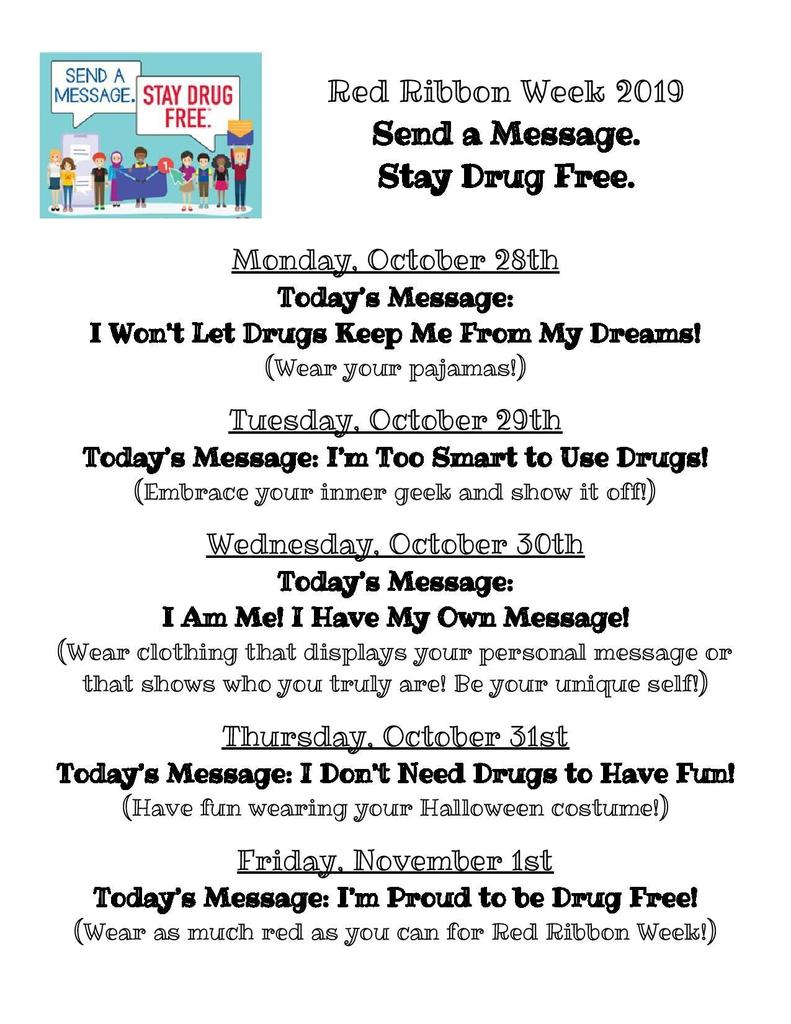 Red Ribbon Week 2019 Flyer