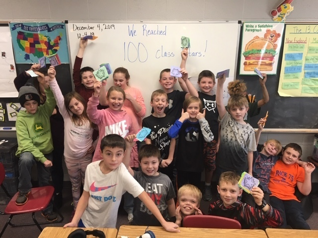 We did it!  We reached 100 class stars!