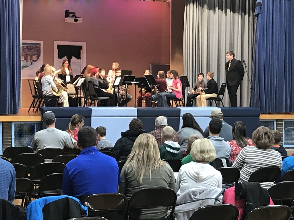 6-12 Winter Band Concert.  Thank you Mr. Shelley and students for your hard work!