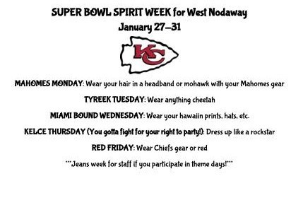 Chiefs Spirit Week