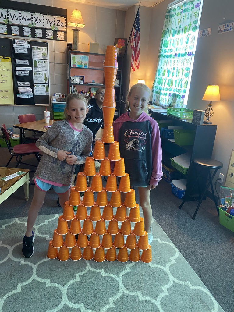 STEM in the classroom! This was their 3rd tower!! GREAT job!!